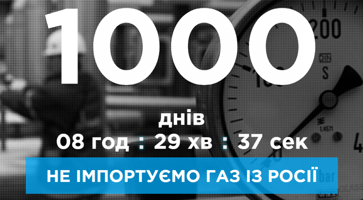 Украина уже тысячу дней не импортирует газ из России