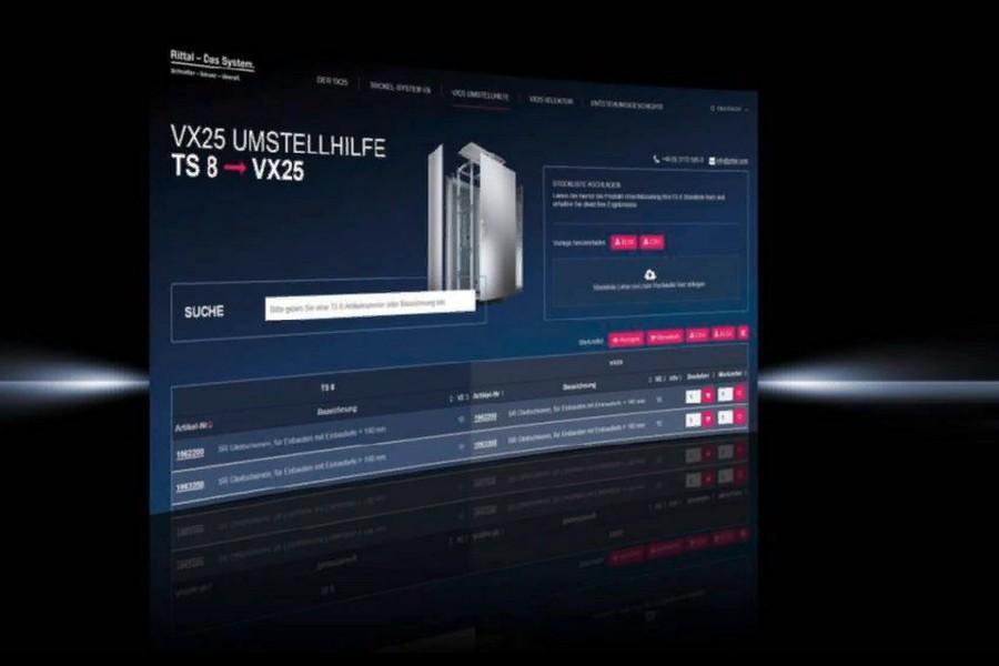 Распределительные шкафы TS 8 в спецификации VX25