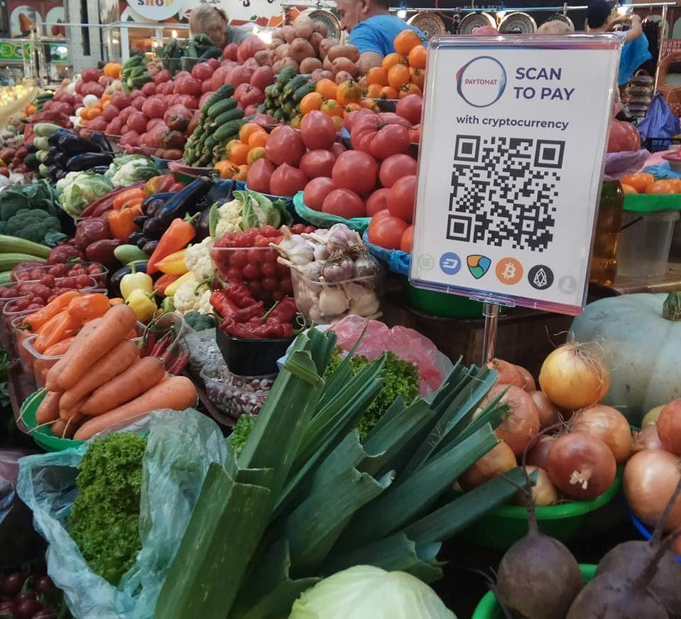 На Бессарабском рынке в Киеве теперь можно рассчитываться криптовалютой