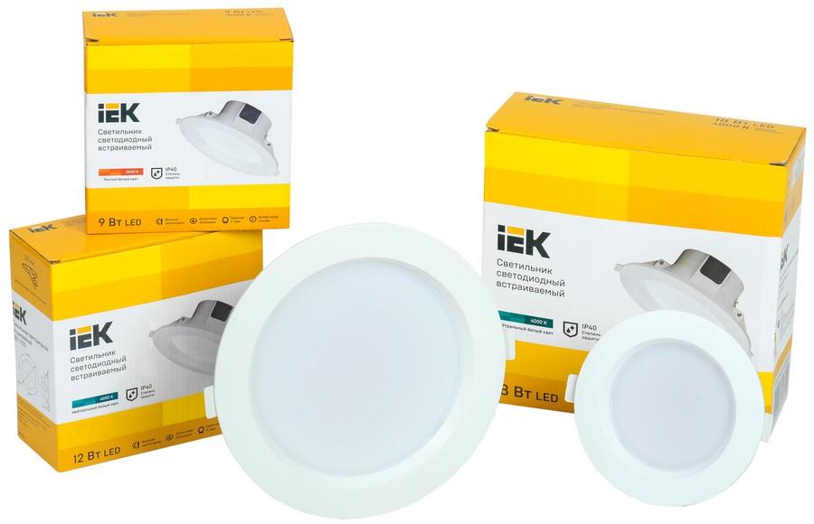 IEK Lighting представляет светодиодные даунлайты ДВО 1701-1704 IEK® со встроенным драйвером