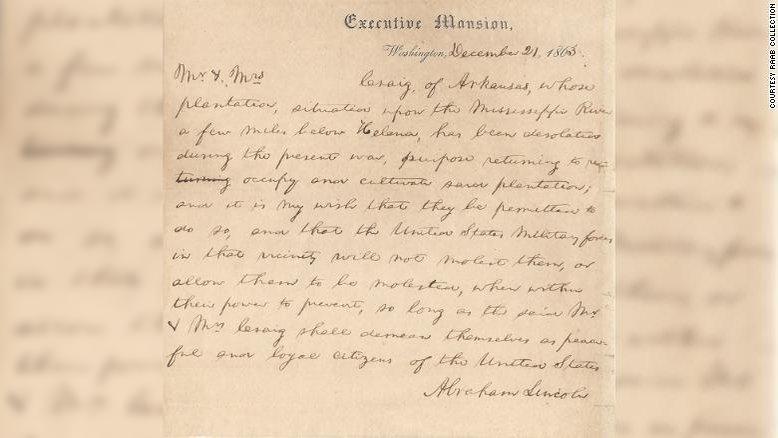На аукционе продали за $60 тыс. рождественское письмо Линкольна