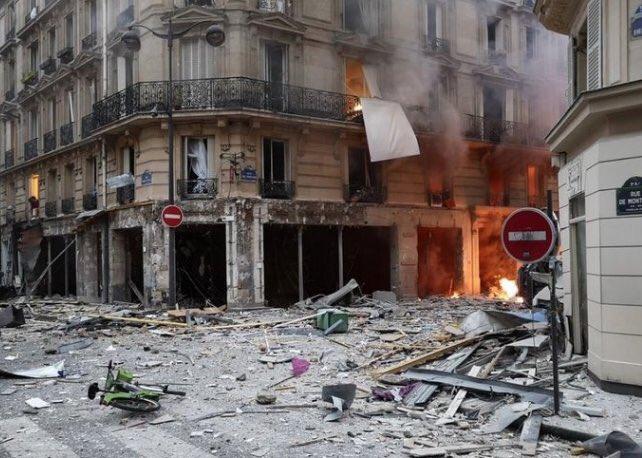 В центре Парижа прогремел взрыв