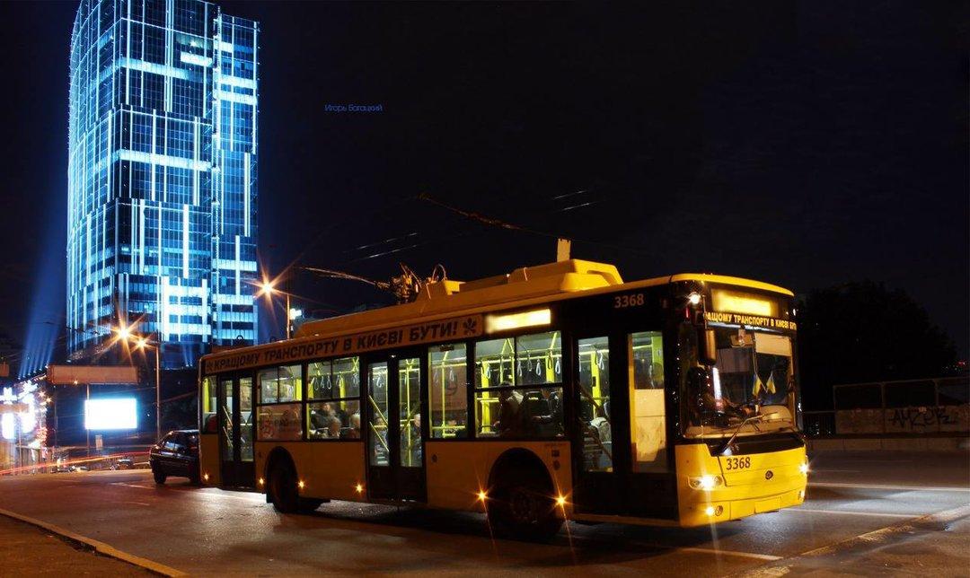 В Киеве в ночь на 14 января изменится движение ночного троллейбуса — КГГА